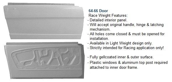 66 mustang door
