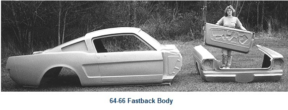 Mustang fastback body roof clip shell price 3899 00 note this body