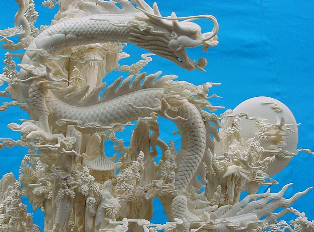dragons carving