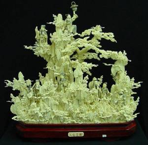 BONE ART 8 FAIRIES MOUNTAIN (02J1)