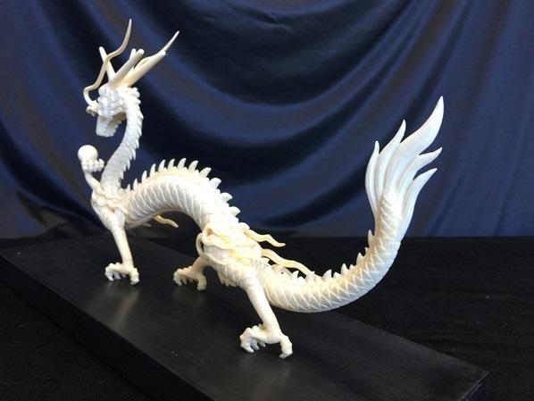 bone dragon carving