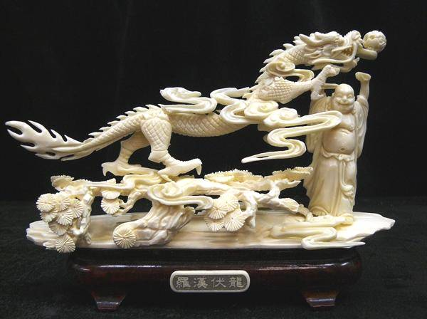 Bone dragon carving for sale