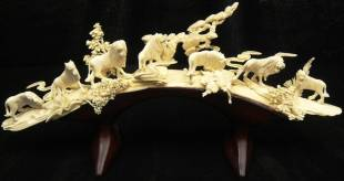 BONE CARVING LION BRIDGE
