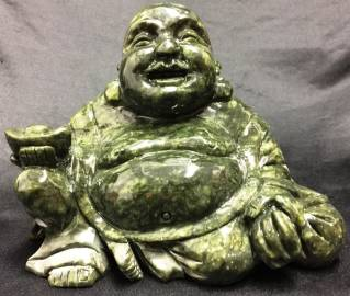 Green JADE Laughing BUDDHA
