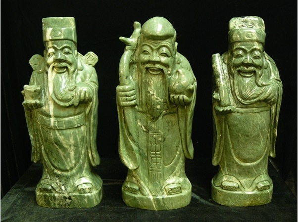 jade 3 wisemen statue