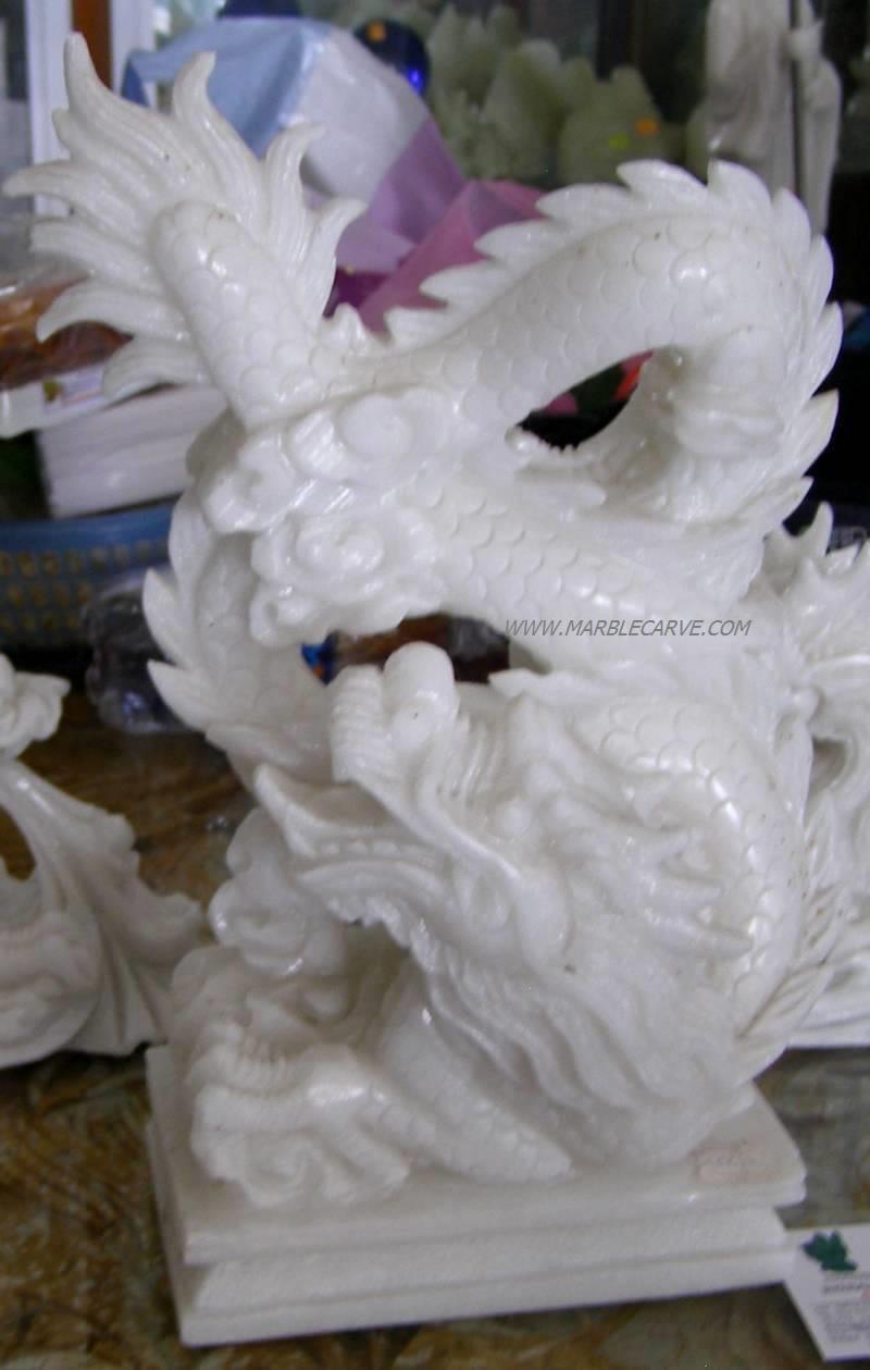 Marble dragon sculpture statue art carving