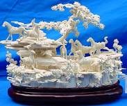 Large Jade Horse LH3B, Price = $ 795.00 + S/H size approx H. 11 inch x W. 14 inch