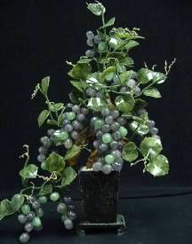 Jade Grapes, Price = $99.99 + S/H SIZE: HEIGHT: 24in, WIDTH: 16in, DEEP: 9in