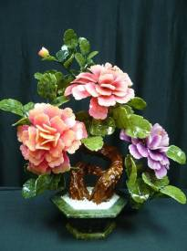 Jade Flowers, Price = $149.99 + S/H size approx H. 20 inch x W. 15 inch