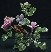 Jade Flowers, Price = $29.00 + S/H size approx H. 12 inch x W. 10 inch