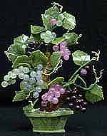 Jade Grapes, Price = $44.90 + S/H SIZE: HEIGHT:10 in, WIDTH: 8 in, DEEP: 8 in