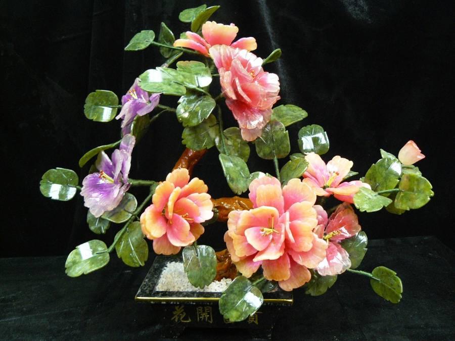 Jade Flower Bonsai Tree 201 8b