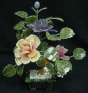 MIXED JADE FLOWER HUGE 12 inch JADE FLOWER TREE   Price = $ 29.00 + S/H. SIZE: H: 12in, D: 8in, W: 12in.