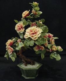 Jade Flowers, Price = $249.99 + S/H size approx H. 30 inch x W. 20 inch