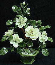 Jade Flowers, Price = $49.99 + S/H size approx H. 18 inch x W. 12 inch