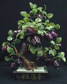 Jade Apples, Price = $ 139.99 + S/H size approx H. 20 inch x W. 16 inch