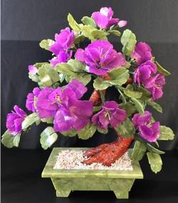 Lavender Jade Flowers, Price = $149.95 + S/H size approx H. 18 inch x W. 16 inch