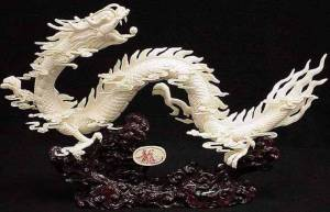 22 inch Bone Dragon Carving. Very Impressive. Click on the dragon to see a large picture.