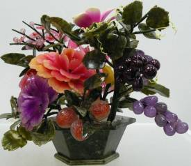 Jade Flowers, Price = $199.95 + S/H size approx H. 14 inch x W. 18 inch