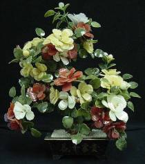 Jade Flowers, Price = $199.95 + S/H size approx H. 30 inch x W. 24 inch
