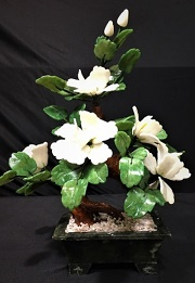 White Jade Flowers, Price = $99.99 + S/H size approx H. 16 inch x W. 14 inch