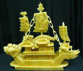 YELLOW JADE DRAGON BOAT