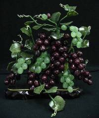 Jade Grapes, Price = $79.95 + S/H SIZE: HEIGHT: 16in, WIDTH: 12in, DEEP: 6in