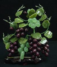 Jade Grapes, Price = $49.95 + S/H SIZE: HEIGHT: 9.5in, WIDTH: 7in, DEEP: 5in