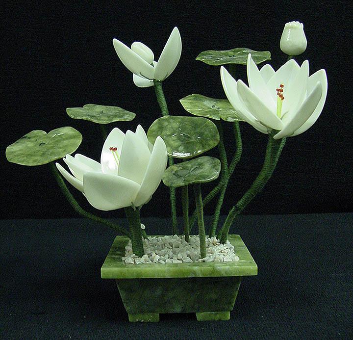 jade lotus flower