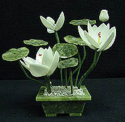 Jade Lotus Flowers, Price = $39.99 + S/H size approx H.7 inch x W. 6 inch