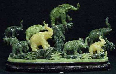 jade elephants, jade elephant