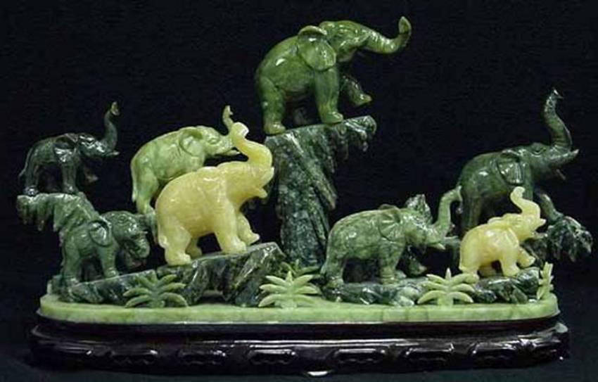 Jade Elephant And Elephants