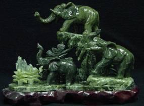 Jade Sculpture Statue Carvings Jade Flowers Carving