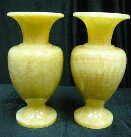 JADE FLOWER VASE, 11 inch tall, Price = $ 279.00 + S/H. SIZE: H: 11in, W: 6in.
