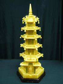 Jade Pagoda, Price = $499.99 + S/H size approx H. 24 inch x W. 11 inch