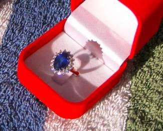 Ceylon Sapphire  Price = $ 675.00 + S/H. SIZE: 6.5.