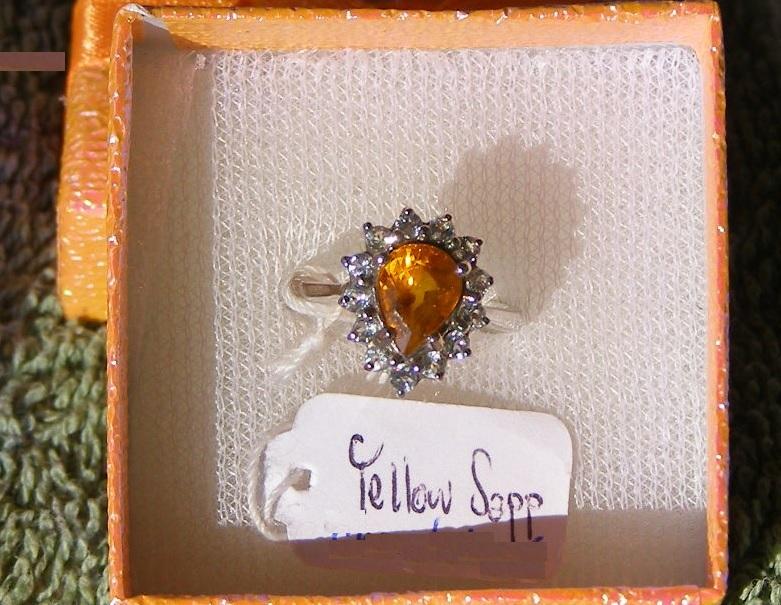 Yellow Sapphire  Price = $ 599.00 SIZE 6.