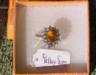 Sapphire  Price = $ 599.00 + S/H. SIZE: 6.5.