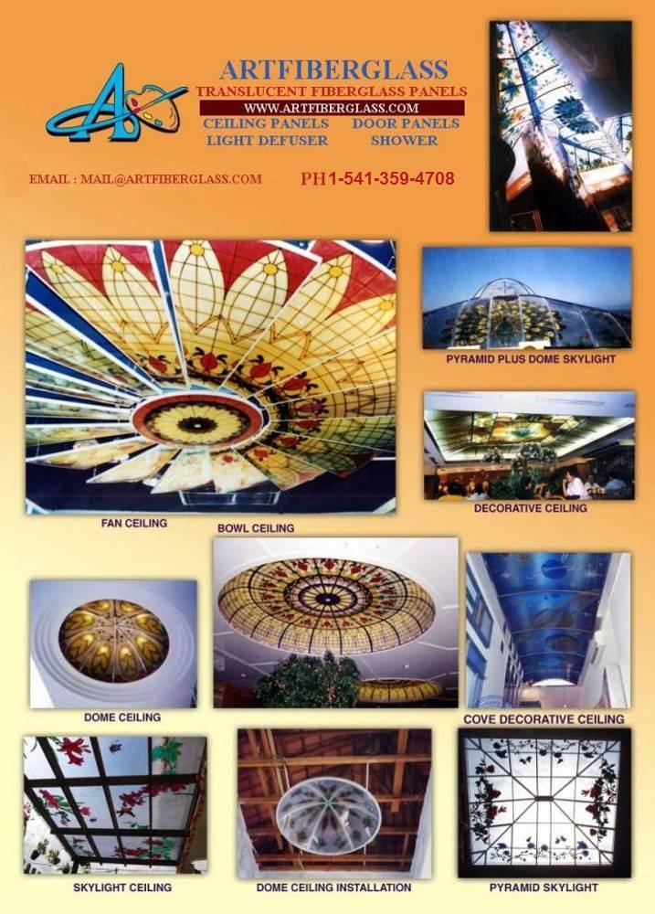 Ceiling art light lens, ceiling domes,custom art,doors,windows,sidelights