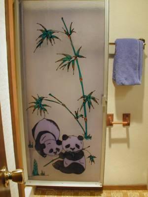 & Shower Doors Panda\u0027s Playing: Panda Bear