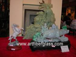 Jade cow and horse Carving