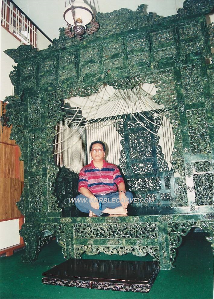 jade bed carving