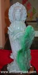 jade carving, Burma Jade Quan yin photo image