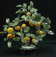 LG. JADE TANGERINES TREE, Price = $119.99 + S/H size approx H. 20 inch x W. 16 inch