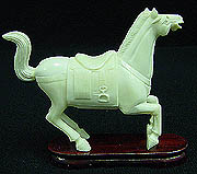 BONE SCENERY WITH HORSES, Price = $ 49.99 + S/H size approx H. 4 inch x W. 5 inch