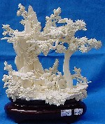 BONE SCENERY WITH HORSES, Price = $ 179.99 + S/H size approx H. 10 inch x W. 9 inch
