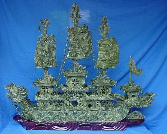 jade boat, jade ship