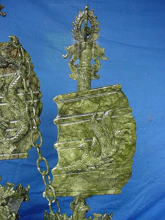 jade dragon boat, jade ship