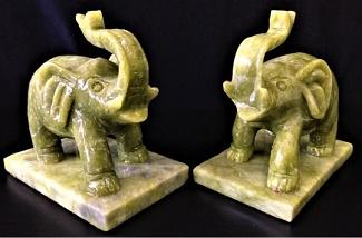 Jade Elephants Statue Stone Elephant Statues Sculpture Art