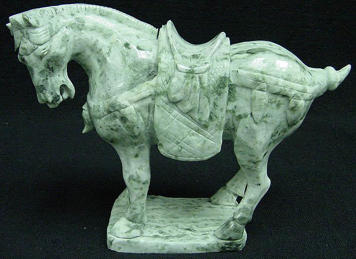 jade horse statue carving, jade horses